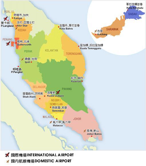 马来西亚地图中文版高清下载_旅游_很