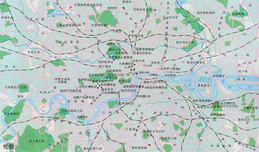 英国伦敦地图 伦敦旅游地图中文版